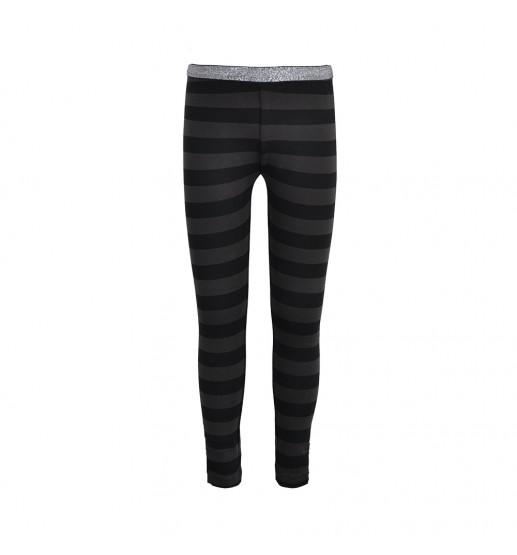 LoveStation22 - Legging - Grey/Black Stripe