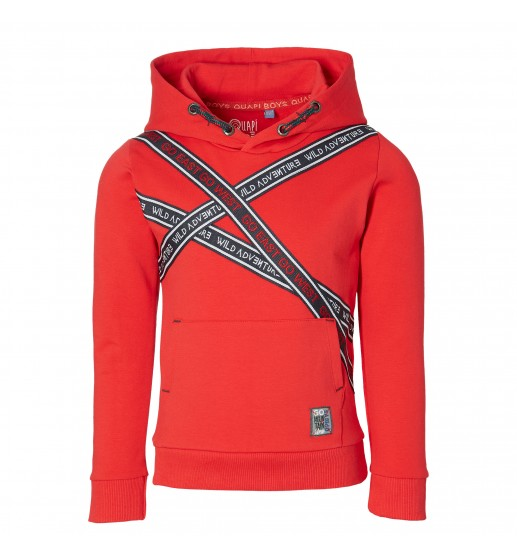 Quapi - Hooded sweater Denny - True Red