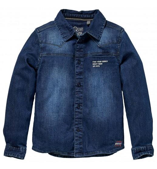 Quapi - Blouse Krijn - Dark Blue Jeans